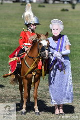 """A Royal visit, Who knew? Her Majesty The Queen (aka Peta Skains) was pictured on the 2019 ACTewAGL Royal Canberra Showground accompanied by a member of the Household Cavalry, Mitchell Bensley. They made a cameo appearance in the """"Royal"""" Fancy Dress competition."""