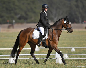 """JACK OF ALL TRADES"" ridden by Jasmine Weeks in the EV65 Grassroots Dressage Class"