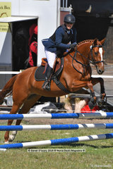 """SASHA"" ridden by Emma Sharp in the EV65 Grass Roots Showjumping Phase"