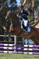 """EXCEEDS EXPECTATIONS"" ridden by Rosemary Fildes in the EV65 Showjumping Phase"