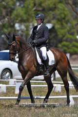 """CARUSO IRON SPIDER"" ridden by Callum Buczak in the CCN 1 Star Dressage Phase"