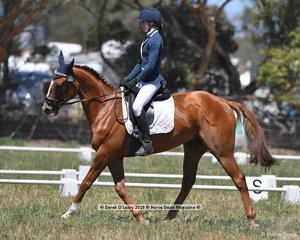 """WAKE ME UP"" ridden by Fleur Barling in the CCN 2 Star Dressage Phase"