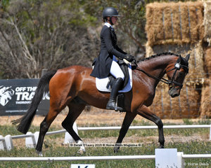 """KENDALEE QUANTUM LEAP"" ridden by Florence Goodwin in the CCN 2.5 Star Dressage Phase"