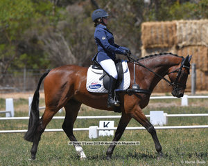 """STARS ALIGN"" ridden by Emily Anker in the CCN 2 Star Dressage Phase"