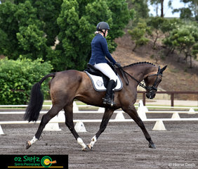 Kung Fu Master GP tracked up for Hayley Howe in the EvA95C Junior class on Saturday at the Sydney Eventing Summer Classic.