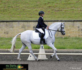 Showing off their moves in the dressage phase of the EvA60 Junior was Harry Warner and Sweet Kiss at the Sydney Eventing Summer Classic.