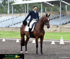 Competing in the new format CCN4 Star, Olympic pair Shane Rose and Virgil were first out in the dressage on the first day of the Sydney Eventing Summer Classic.