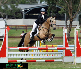 Flying through the EvA80D competition and into 6th place after showjumping was Ashleigh Willebrand on Alabama Whisky Jazz at the Sydney Eventing Summer Classic. .