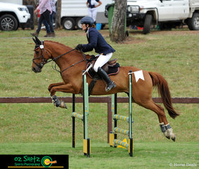 With their eyes on the finish line was Catherine Titmarsh and her horse Its Standby during the EvA80A class at the Sydney Eventing Summer Classic.