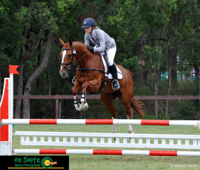 Navigating their way around the EvA80 show jumping track was Millie Malone and Sandhills Ava at the Sydney Eventing Summer Classic