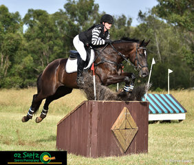 Fence 17AB Double Diamonds was no problem at all for Rebecca Swinton and Moonwalk in the Two Star cross country held on Sunday at the Sydney International Equestrian Centre.