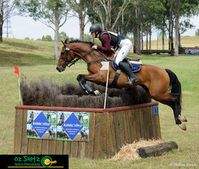 With style like this, it is no wonder that Jordyn Faint and Double S & Evergreen Jackpot had a clear round out on the CCN4 Star cross country at the Sydney Eventing Summer Classic.