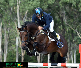 Moving up from 8th to second place with a clear round in the show jumping, Shane Rose and Easy Turn looked great on the show jumping arena at the Sydney Eventing Summer Classic.