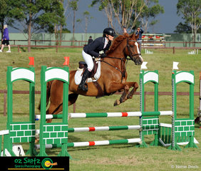 In a competitive field, Amy Roberts and Ironstone Cooper compete in the CCN1 Star class at the Sydney Eventing Summer Classic.
