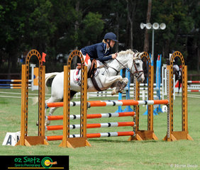 Just a bit of cuteness overload. Charlotte Millington and Stormy Lodge Doodlebug fly around the EvA95 show jumping course at the Sydney Eventing Summer Classic.