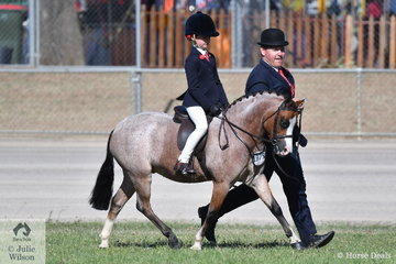 Professional leading rein combination, if such a thing exists, Jeremy Roberts and Ivy Aikman claimed sixth place in the class for Leading Rein Show Hunter Pony with the Lee Family ans Joanne Dean's, 'Wynara Tiddleywinks'.