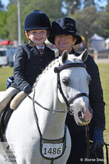 """Quality time with """"nanna"""". Xanda Izod was pleased to be out on the 2019 ACTewAGL Royal Canberra Show arena riding Zali Cameron's, 'Jatz Park Audacity'. Xanda Is pictured with his grandmother, Annette Izod and both look to be having fun."""