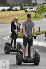 Willinga Park is vast and serviced with miles of made roads, perfect for getting around on a segway; so think riders, Phil Bobic and Jemma Herran.