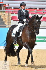 Rebecca Walshe rode, 'BHM Spanish Amor' to take ninth place in the Otto Australia medium 4b.
