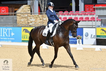 Jenny Gehrke rode her, 'Lord Kindsley' to sixth place in the Otto Australia Medium 4 b.