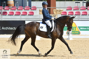 Behind every great man! Niki Rose successful eventing and dressage rider, rode 'Dudansa' to take third place in the Otto Australia Medium 4b with 67.93%.
