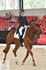 Harvey Besley rode his own, 'Derreen Rock N Rolla' to take 11th place in the Netier Prix St Georges CDN.