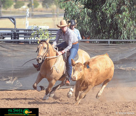 With a score of 91 saw Megan Macintosh and Boganvilla Abbeys Amber win the Ladies Campdraft at the 2019 Australian Stock Horse Nationals..