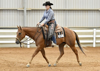 SVQ Good Charlotte ridden by Bonnie Grosso in the All Age Youth Ranch Riding