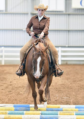 Sara Agnew riding Genetically Awesome in the Open Ranch Riding
