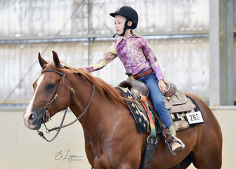Willow Young riding Thiswimpyrocks in the All Age Youth Ranch Riding