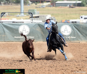 With an impressive run and scoring 88 in the Novice Campdraft was Canome Lukota with Canome Lukota on board.