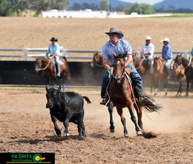 With one of the higher scores in the competitive Novice Campdraft saw Mark Barton on Barwalla Mephis achieve a score of 84..