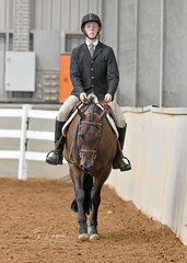 Christopher Holmes riding Jaded Potential in the Senior Youth Hunter Under Saddle 14- 18 Years
