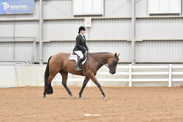 Winner of the Amateur Hunt Seat Equitation, Rebecca Salt riding Steel Doin It