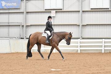 Winner of the Amateur Hunt Seat Equitation, Rebecca Salt riding Steel Doin It