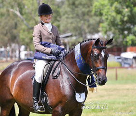 "Champion Owner/Rider Large Hunter Hack ""AATC Rosenna"" and Montana Breust."