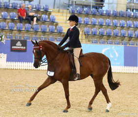 """Georgia Currall rode """"Allambie Park First Impressions"""" to take Runner Up in the Child's Large Galloway of the Year event."""