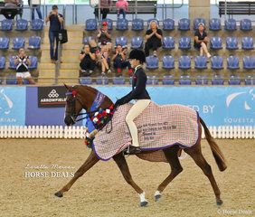 """Champion Child's Small Hack of the Year """"Whitewood Just Cruisin"""" and Elizabeth Rutledge."""