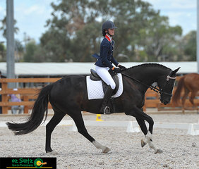 Riding at the Australian Stock Horse National Show and competing in the Preliminary 1B was Charlize Haling on Monaco by Moonght.