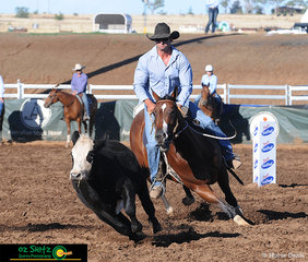 Scoring an impressive run of 89 was Gavin White and Royalle Heartalena in the Maiden Series at the 2019 Australian Stock Horse National Show.