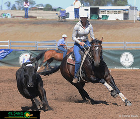 Sharing a strong bond, Michelle Guliker and Jakeiro Philosopher had a great run in the Maiden Series Campdraft.
