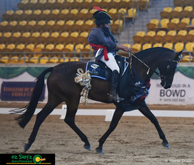 Always a crowd favourite Gillian Green was first out in the Freestyle Elementary with Vegas Smack