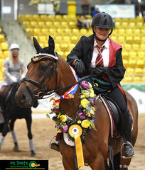 Winner of the Freestlye Novice on Friday night was Madeline Brown and Waymere Oaks Latitude with her Harry Potter themed performance