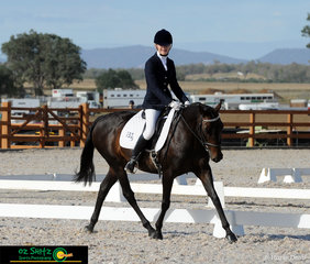 Dedicated dressage rider, Erin Smith is pictured with her 'Cliffden Min Min' in the Preliminary 1C Class during the Australian Stock Horse National Show.