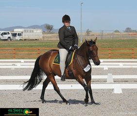 Performing well in the Preliminary 1C Class at the Australian Stock Horse National Show was Khloe Anderson and Coolidowns Conrad held at Tamworth.