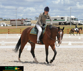 Safe to say that Tanya Duncan was very proud of Fairway Banjo at the completion of their Preliminary 1C dressage test at the Australian Stock Horse Nationals held in Tamworth, NSW.