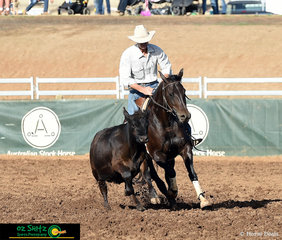 After a score of 90 yesterday in the Maiden Series, Micheael Wilson on board Willdraft Acres Of Jewels got a combined score of 170 today after an almost perfect round.