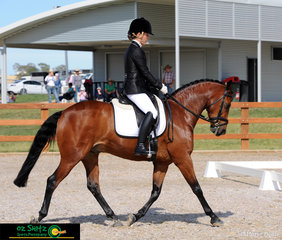 Looking fabulous, Hannah Plotecki and Miltons Fonzee make a great combination competing in the Novice 2B at the Australian Stock Horse National Show in Tamworth, NSW.