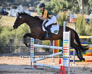 "Alexandra Durante rode ""VooDoo"" placed 2nd in the B Grade Championship"