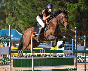 """Oscar Cole rode """"Chatswood Tango"""" placed 6th in the B Grade Championship representing Midland Zone"""